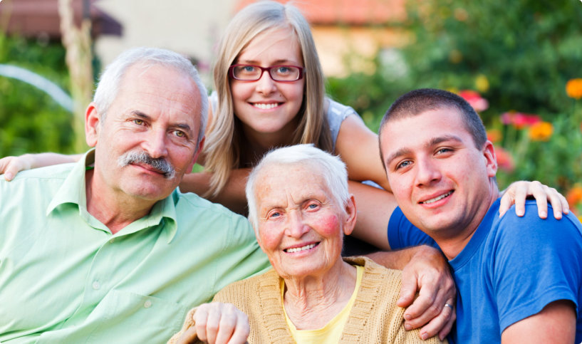 caregiver and family members